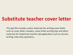 Cover Letter Substitute Teacher Substitute Teacher Cover Letter