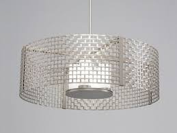 picture of tweed mesh drum pendant chandelier 36