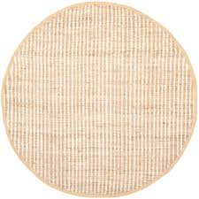 safavieh natural fiber natural ivory 7 ft x 7 ft round area rug