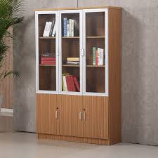 office bookcase with doors. Excellent Quality Office Book Self Furniture Wooden Bookcase Modern Glass Door Cabinet With Doors