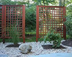 asian lattice landscape design ideas