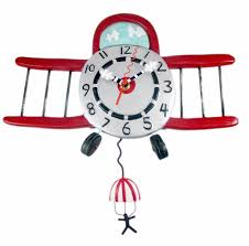 Allen Designs Amazon Com Airplane Jumper Art Wall Clock By Allen Designs