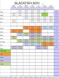 Excel Membership Template Restaurant Kitchen Schedule Template Excel Chefs Resources