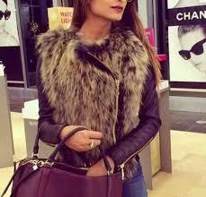 coat bcbg leather jacket with fur