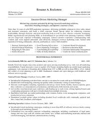 resume marketing manager cipanewsletter cover letter s and marketing resume sample s and marketing