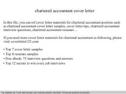 Sample Cover Letter For Fresh Chartered Accountant   Cover Letter