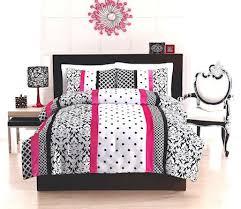 Great Elegant Teen Woman Black White & Scorching Pink Bedding Twin ... & Great Elegant Teen Woman Black White & Scorching Pink Bedding Twin / Full  Comforter Set D Adamdwight.com