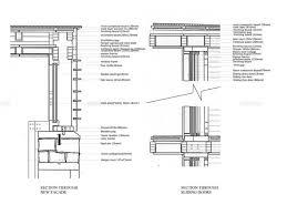 a section through facade b section through sliding door scale 1 5