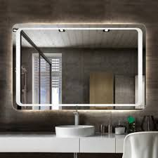 bathroom mirrors with led lights. Image Is Loading Illuminated-Bathroom-Mirror-LED-Light-Demister-Pad-Motion- Bathroom Mirrors With Led Lights A