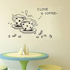 junbuoom vinyl decal background carved applique i love coffee sentence house restaurant decoration personalized art sticker on kitchen wall art stickers amazon with amazon junbuoom vinyl decal background carved applique i love