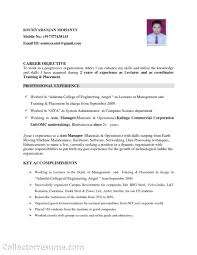 Mechanical Engineer Objective Resume Free Resume Example And