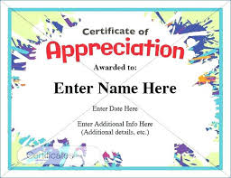 Certificate Of Appreciation Templates Free Download 4 Certificate Of Appreciation Templates Blank Template Free Download