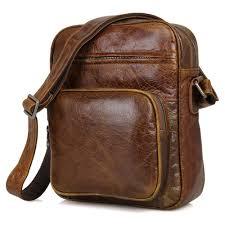 details about salinas 2 men s soft vintage leather compact messenger bag tan