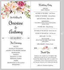 Templates For Wedding Programs Printing Your Program Template Front And Back Templett Blog
