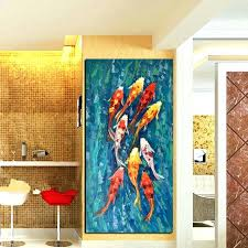 chinese wall art painting wall decor beautiful wall art picture print abstract nine fish landscape chinese