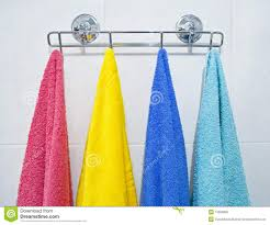 bath towels hanging. Exellent Towels Download Colorful Towels Hanging In A Bathroom Stock Photo  Image Of  Hanging Pleasant To Bath S