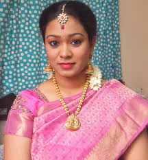 traditional south indian wedding reception look 2