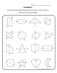 4th Grade Lines Of Symmetry For Two Dimensional Figures