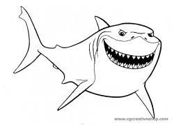 Bruto Lo Squalo Di Alla Ricerca Di Nemo Disegno Da Colorare