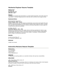 Resume Objective Mechanical Engineer Resume Work Template