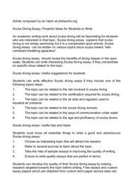 s diving essay powerful ideas for students to write s diving essay powerful ideas for students to write