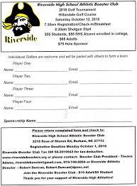 Golf Tournament Information Riverside High School Booster Club