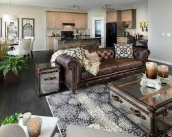 Decor around distressed leather sofa More  Morrison HomesLiving Room Ideas Leather  CouchBrown ...