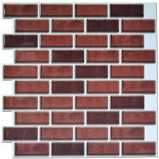 Brick Backsplash Tile Peel And Stick Brick Backsplash Tiles Kitchen Smart Tiles 58 Sq 6321 by guidejewelry.us