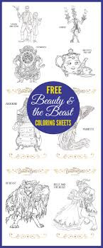 Small Picture Free Beauty and the Beast Coloring Pages Birthday Party Free