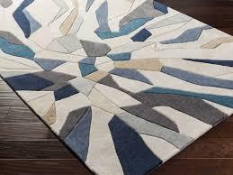 surya cosmopolitan rectangular beige teal area rug