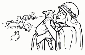 Small Picture Shepherd And Lamb Coloring Page Coloring Coloring Pages