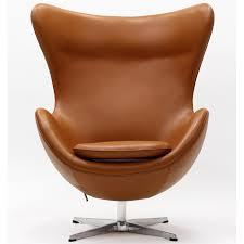 arne jacobsen egg chair in leather terra cotta arne jacobsen egg chair leather black
