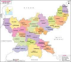 Jharkhand District Map