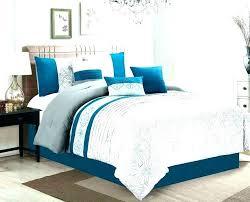 grey and teal comforter orange blue bedding piece flora print gray ivory set sets p