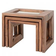 Beistelltisch Akazie Massiv Tisch Massivholz Pflege Esstisch