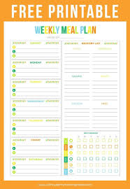 menu planner printable free printable weekly meal plan on www strawberrymommycakes