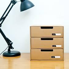 <b>Kraft Paper Storage Box</b> Office <b>Stationery</b> Container Desktop Drawer ...