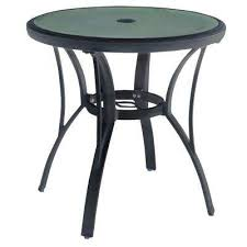 commercial grade aluminum brown round outdoor bistro table