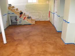 stained concrete floors kitchen awesome amazing basement cement fair floor ideas diy