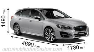 Subaru Model Comparison Chart Dimensions Of Subaru Cars Showing Length Width And Height