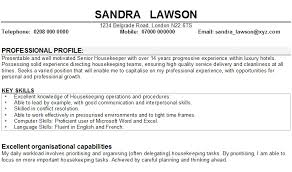 Gallery Of Housekeeping Manager Resume