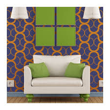large modern wall stencil geometric pattern for easy diy home