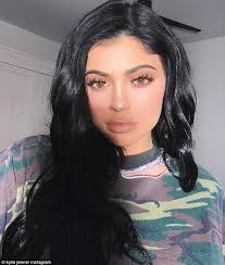 a faint pout kylie jenner has lip kits to promote and on wednesday the