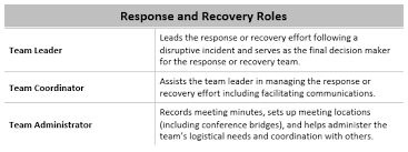 Program Roles Responsibilities In A Business Continuity Management