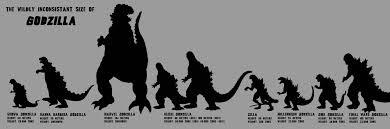 Godzilla Chart Godzilla Size Chart Godzilla