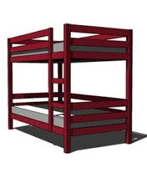 A Collection of Free, DIY Bunk Bed Plans: Classic Bunk Bed Plan from Ana