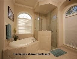 half wall frameless shower enclosure frameless glass shower enclosures home depot
