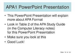 What Is Apa Format Using Apa Format In Word Ppt Download
