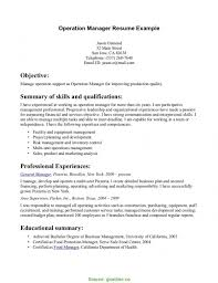 Trending Operations Manager Summary Statement Example Summary For