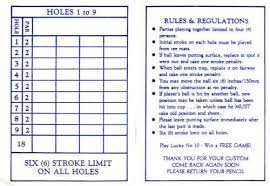Golf Score Card Template Mini Golf Scorecard Template Rome Fontanacountryinn Com